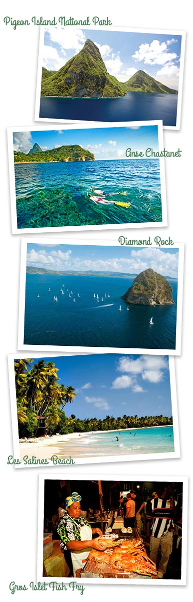 St. Lucia and Martinique Caribbean Sailing Charters Itinerary