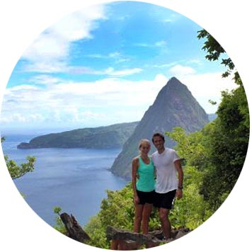 Hiking the Pitons in St. Lucia