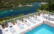 Private pool in Marigot Bay