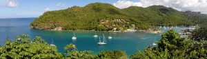 beautiful marigot bay saint lucia