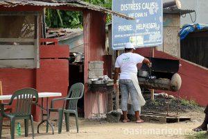 bernice local st lucia food marigot bay