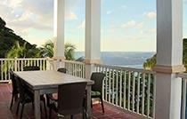 caribbean sea view villa st lucia