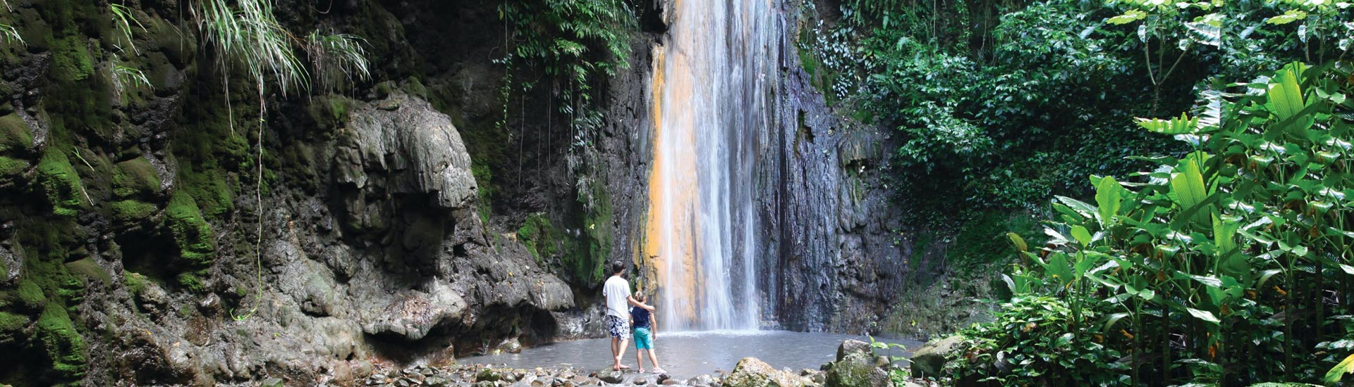 Diamond waterfall st lucia how it got its name for Waterfall environment