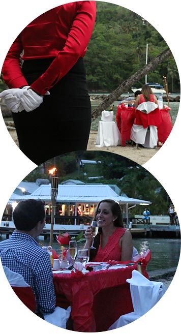 Dinner on the Beach Package in Marigot Bay St. Lucia