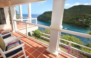 great house balcony view