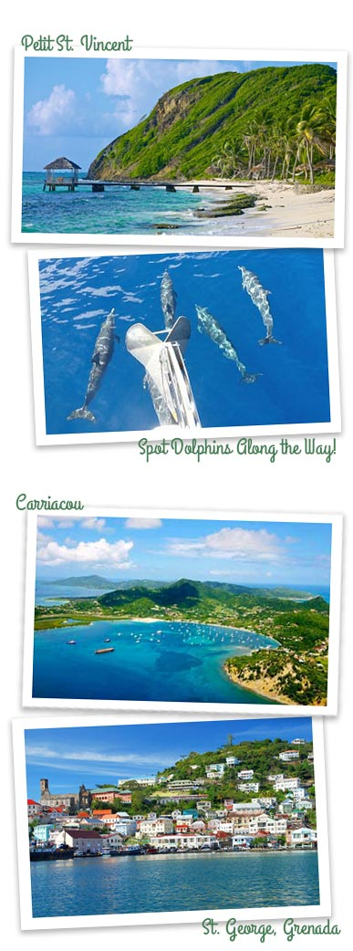 Grenadines and Grenada Sailing Charter Itinerary