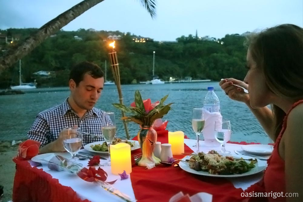 Marigot Bay Dinner on the Beach