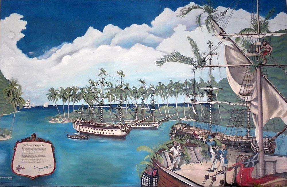 marigot bay ship hideout painting
