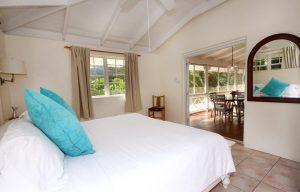 master bedroom at villa st lucia