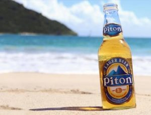 pitons beer st lucia