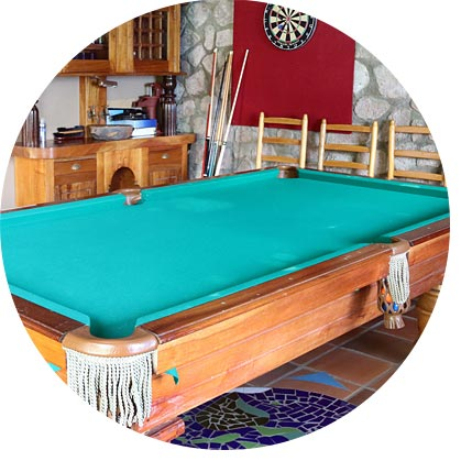 pool table dart board games room