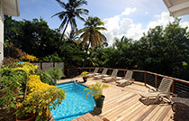 private deck and pool villa in st lucia2