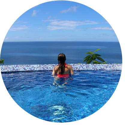 private plunge pool ocean view