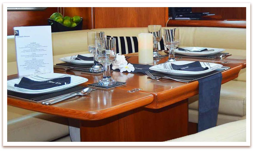 sailing charter meals drinks included