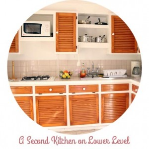 second mini kitchen on first level