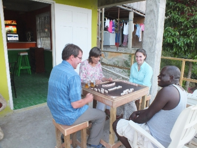 st lucia playing dominoes