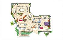 top floor plan villa2