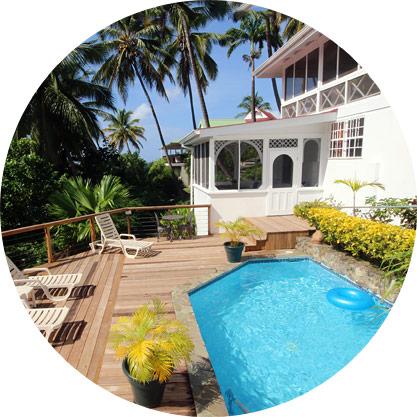 villa st lucia pool